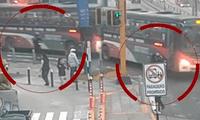 Imágenes del momento en que bus atropella a joven en scooter