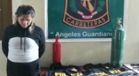 Presunta delincuente es detenida en bus interprovincial que se dirigía de Ayacucho a Andahuaylas.