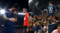 Cambio de Lionel Messi se registró al minuto 75 del partido desarrollado en el Estadio Parque de los Príncipes.