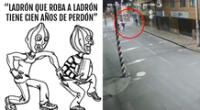 Los vecinos y cibernautas quedaron sorprendidos porque ya ni los ladrones se salvan de la inseguridad en Colombia.