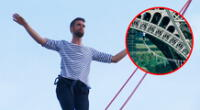 Nathan Paulin ya había cruzado el río Sena en la cuerda floja, en el Día de la Herencia en 2017.