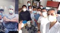Médicos residentes del Hospital de la PNP luchando en plena pandemia.