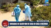 COVID-19: brigadas de salud van de casa en casa a vacunar