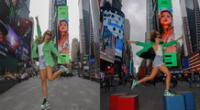 Cantante logra su primer Billboard en Times Square