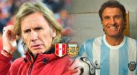 Ricardo Gareca visitará el Estadio Monumental con la camiseta de la selección peruana.