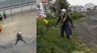 Rescatan a perro que cayó por acantilado de la Costa Verde [VIDEO]