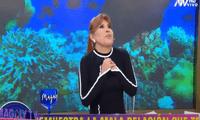 """Magaly Medina asegura que es una persona afoMagaly Medina a usuaria que le recordó que no acabó su carrera universitaria: """"Así es""""rtunada tras sobreviví al coronavirus y volver a Magaly Tv, la firme. Foto: captura ATV"""
