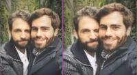 Rodrigo González y su pareja se lucen muy enamorados.