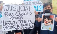 Familias piden justicia para el padre de familia y sus dos menores hijos