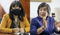 Mirtha Vásquez y presidenta del TC, Marianella Ledesma, sustentaron sus presupuestos en el Congreso