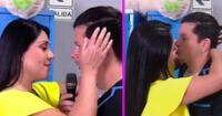Tula Rodríguez y Mario Hart se pusieron 'cariñosos' en pleno programa en vivo.