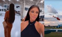 Sheyla Rojas presume helicópteros de su novio.