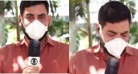 El reportero no pudo contener las lágrimas cuando dio la buena noticia en el periódico en vivo.