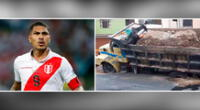 Paolo Guerrero tomó conocimiento de lo sucedido, y para su tranquilidad no se reportó que ninguna persona haya salido herida.