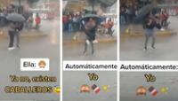 El romántico hecho se volvió viral en las redes sociales.