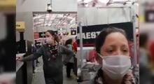 Denuncian que mujer se adelantó en cola de supermercado y tosió contra señora que le reclamó.