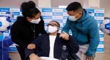 En plena alta médica,  reencontrándose con su familia