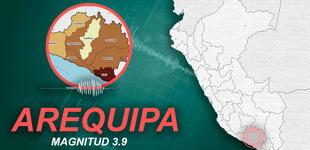 Temblor de magnitud 3.9 remeció Arequipa la tarde de este jueves, según IGP