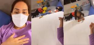 Karen Schwarz duerme con su hija Antonia en el mismo cuarto tras dar positivo a COVID- 19 [VIDEO]