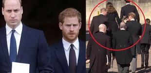 Príncipe Guillermo y Harry: Así fue su reencuentro en el funeral del príncipe Felipe