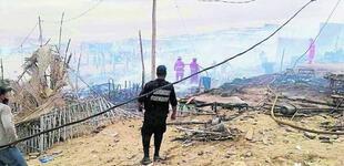 Áncash: incendio deja a 51 familias damnificadas en el asentamiento Lomas del Norte