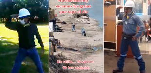 """'Ingeniero' paraliza obra hidráulica para grabar challenge """"No sé"""" [VIDEO]"""