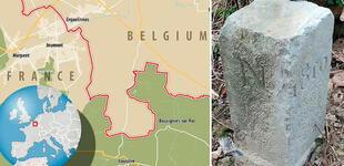 Agricultor mueve una piedra, sin saber que era la frontera de Bélgica y Francia, ocasionando un conflicto