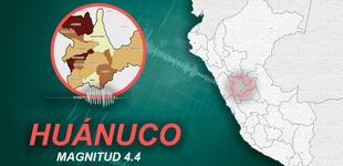 Temblor de magnitud 4.4 se sintió en Huánuco la madrugada de este martes, según IGP