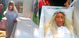 Mujer organizó velorio para experimentar cómo sería su funeral: alquiló su propio ataúd [VIDEO]