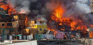 Chile: incendio reduce a escombros decenas de casas de migrantes en Antofagasta [VIDEO]