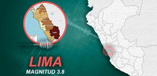 Temblor de magnitud 3.8 remeció Lima la mañana de este jueves, según IGP
