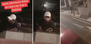 Descubre a delincuente intentado robar su casa y este se justifica diciendo que buscaba pan [VIDEO]