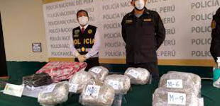 La Libertad: detienen a dos sujetos con diez kilos de marihuana