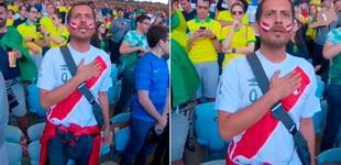 Copa América: el día que un hincha emocionó cantando el himno de Perú en medio de brasileños