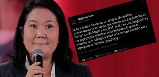 """Comunidad Tusán sobre Keiko Fujimori: """"Es una vergüenza y no nos representa"""""""