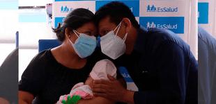 Piurano celebra su primer Día del Padre luego que médicos de EsSalud salvaran a su bebé