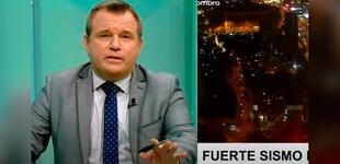 Conductor de TV Perú mantuvó la calma, pero su invitado se retiró por el temblor [VIDEO]
