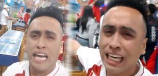 """Christian Cueva: Imitador rompe en llanto tras penal y dice """"la c***, pero estamos en semifinales"""" [VIDEO]"""