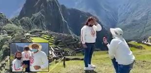 """Hincha de la U pide la mano de su novia en Machu Picchu y celebran el """"Sí"""" junto a su pequeño hijo [VIDEO]"""