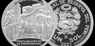 BCR pone en circulación nueva moneda de plata alusiva al Bicentenario