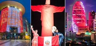 ¡Felices Fiestas Patrias! El mundo se ilumina de blanco y rojo para celebrar el Bicentenario del Perú [FOTOS]