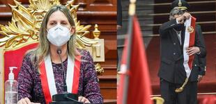 """María del Carmen Alva: """"Francisco Sagasti no podía entrar al Congreso, porque ya no era presidente"""""""