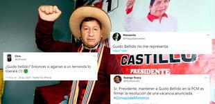 """""""¡Que se vaya!"""": Usuarios exigen la renuncia de Guido Bellido como jefe del Gabinete Ministerial"""