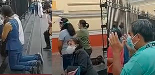 Sismo en Piura: ciudadanos entraron en pánico y se arrodillaron para rezar afuera de la Catedral [VIDEO]