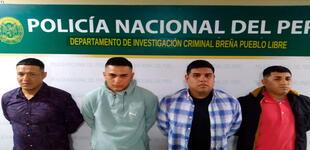Breña: PNP captura a 4 sujetos que robaron a jubilada en las afueras de banco
