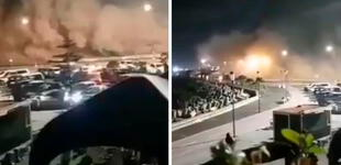 Reportan desprendimiento de tierra en el Morro de Arica [VIDEO]