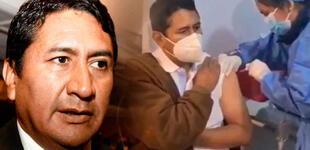 """Vladimir Cerrón se vacuna contra la COVID-19 y le gritan de todo: """"Sáquenlo, sinvergüenza"""" [VIDEO]"""