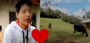 """Hijo de Pedro Castillo muestra su amor por los animales con tierno mensaje: """"Debo cuidarlos"""" [VIDEO]"""