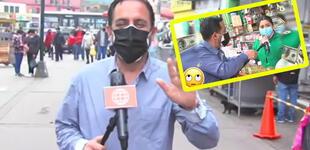Reportero de AH troleado por comerciante trata de pasar piola y dice que todo fue una confusión