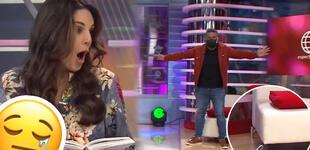 Rebeca Escribens y Choca Mandros realizan baile EN VIVO y terminan con el sillón roto [VIDEO]